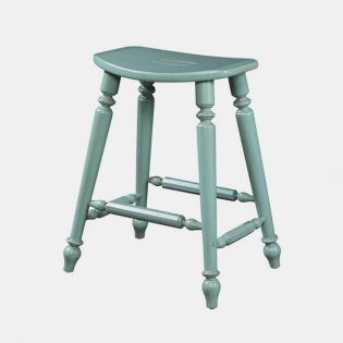 Summer Home 1053-928-S-Blue  Saddle Counter Stool