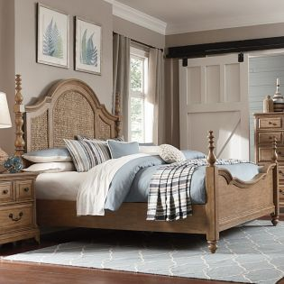B2989  Seagrass Poster Bed (침대+협탁+화장대)