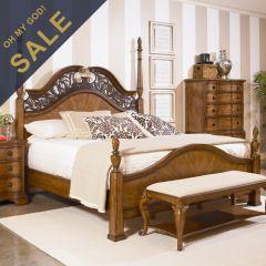 75155 American Memories  Queen Poster Bed Only ~한정판매~