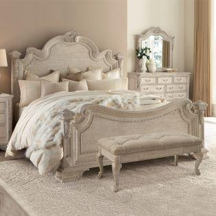 243155-2617 Renaissance  Estate Queen Panel Bed (침대+협탁+화장대)