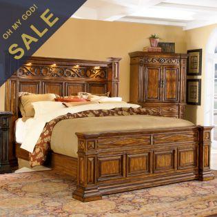 44135 Marbella  Queen Panel Bed (침대)