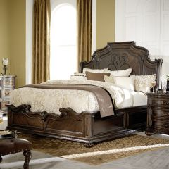 4200-4306K La Bella Vita Sleigh King Bed (침대+협탁+화장대)