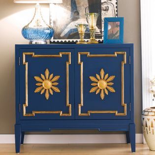 Blue  Console Chest