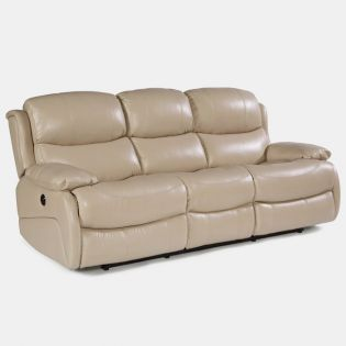 1677-62P  Power Leather Recliner Sofa