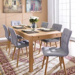 Cope-Grey  Dining Set (1 Table + 6 Chairs)