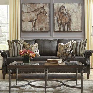1213-31 Daltry  Leather Sofa