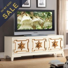 "Cream 59""  Small TV Stand"