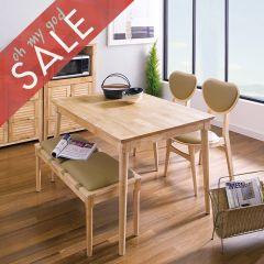 D1160-4  Dining Set (1 Table + 2 Chairs + 1 Bench)