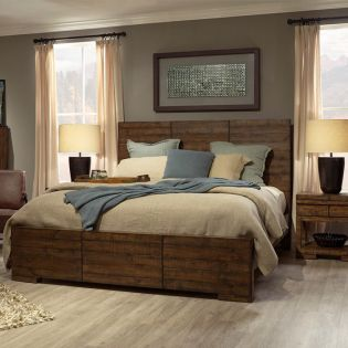 I52-412 Dimensions  Queen Panel bed (침대+협탁+화장대)