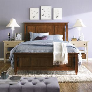 FR-Modern Country-Straw  Panel Bed