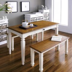 D3231-4  Dining Set (1 Table + 2 Benches)