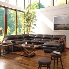 10422  Sectional Leather Sofa