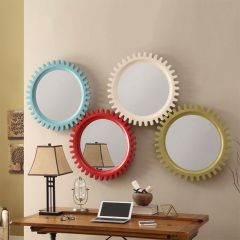 Sun-Red  Wall Mirror