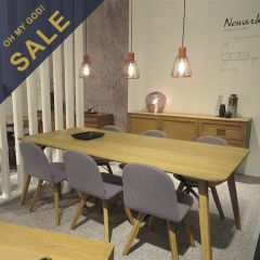 Newark-6C  Dining Set  (1 Table + 6 Chairs)