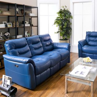 RS-10651-3  Power Leather Recliner Sofa