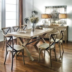 CW045N-6  Dining Set(1 Table + 6 Chairs)