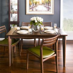 Dimon-4-Walnut  Dining Set(1 Table + 4 Chairs)
