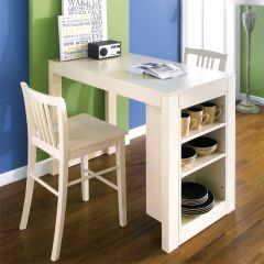 D390-2-Cream  Island Dining Set (1 Table + 2 Chairs)