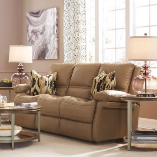 1655-62P  Power Leather Recliner Sofa
