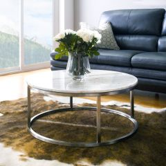 Bran-Round    Marble Round Coffee Table