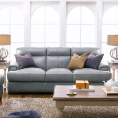10040-30  Leather Sofa