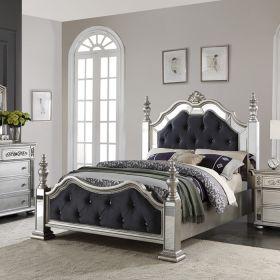 Bling-Bling  Panel Queen Bed(침대+협탁+화장대)