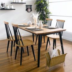 Browny-4  Dining Set (1 Table + 4 Chairs)