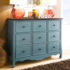 Calgary-Green  9-Drawer Chest