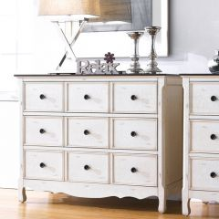 Calgary-White  9-Drawer Chest