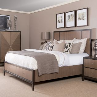 6500-4125K Urban Rhythm Panel Bed (침대+협탁+화장대)