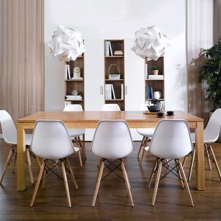 Ocean-N8B  Dining Set  (1 Table + 8 Chairs)