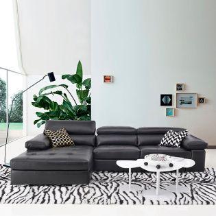 2620  Leather Sofa w/ RAF Chaise