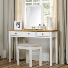 Atlanta-Two Tones  Vanity & Mirror & Stool