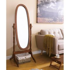 TP-6021W  Walnut Oval Mirror