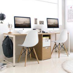 SAH-202-WHITE  Double Desk