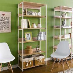 HB-800-Oak 2  Bookcase