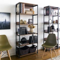 HB-800-Walnut 2 Bookcase