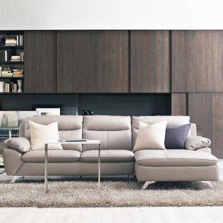 MU-10282-Marble  Leather Sofa w/ Chaise(천연가죽)