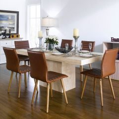 Vigo-6  Dining Set  (1 Table + 6 Chairs)