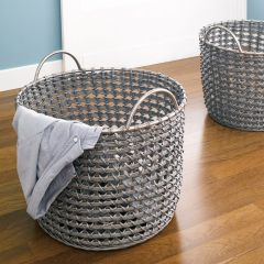 Round Hamper-Grey  (2 Pcs)