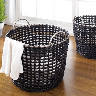 Round Hamper-Brown  (2 Pcs)