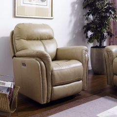E1309-Camel  Power Leather Recliner Chair