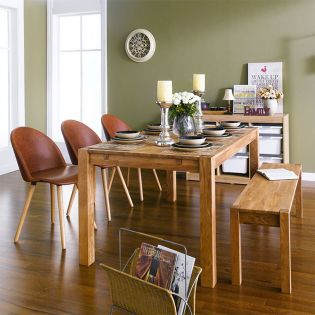 Turbine-6-3MANLEY-1B  Dining Set (6인용) (1 Table + 3 Chairs + 1 Bench)