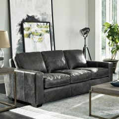 Oliver Grey Leather Sofa 682502-655