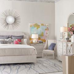 Roseline  Panel Bed (침대+협탁+화장대)