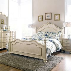 Lily-Ivory Panel Bed (침대+협탁+화장대)~French Design~