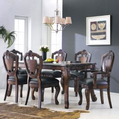 D9766-6  Dining Set  (1 Table + 2 Arm + 4 Side)