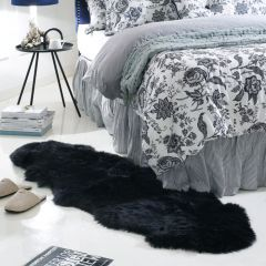 Alba Rug-Black Sheepskin