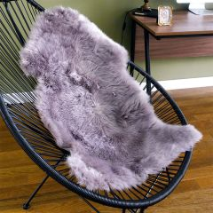 Mary Rug-White/Purple  Sheepskin