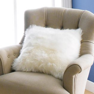 Mary Sheepskin-Ivory   Accent Pillow